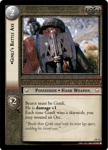 1R014 •Gimli's Battle Axe