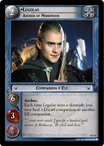 5P121 •Legolas, Archer of Mirkwood