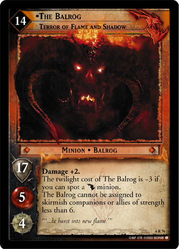 6R076 •The Balrog, Terror of Flame and Shadow