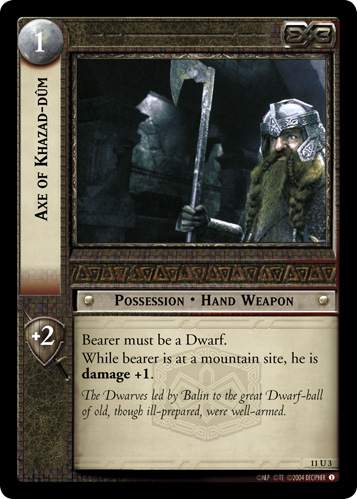 11U003 Axe of Khazad-dûm