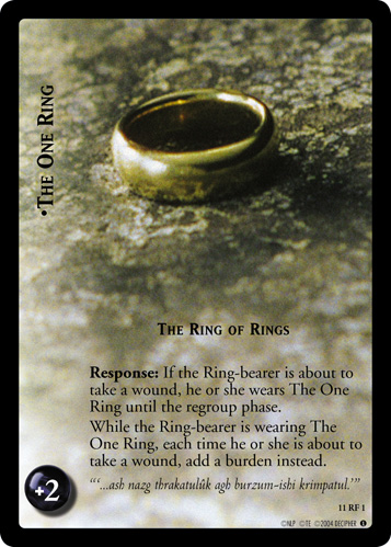 11RF01 •The One Ring, The Ring of Rings